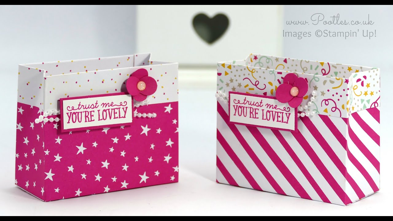 Party Bag using Stampin\' Up! DSP - YouTube