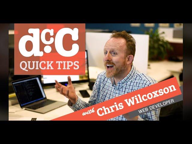 DCC Quick Tips: Chris