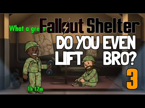 Fallout Shelter | Part 3 - Fitness & Weight Room | GETTING HUGE