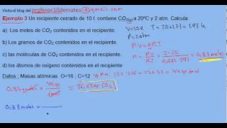 Ecuación de estado de los gases ideales ejercicio resuelto 3