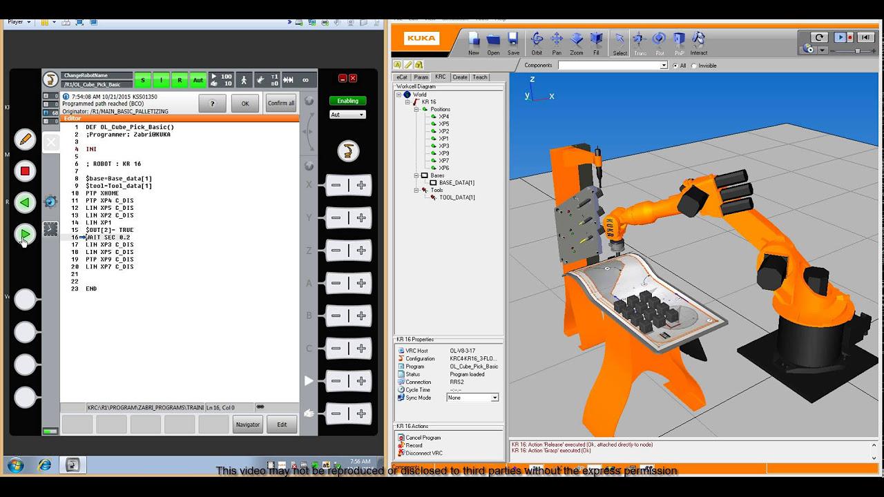 KUKA ROBOT Programming -Basic Palletizing