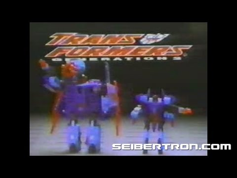 Transformers G2 Dreadwing and Smokescreen Generation 2 commercial 1994 #1