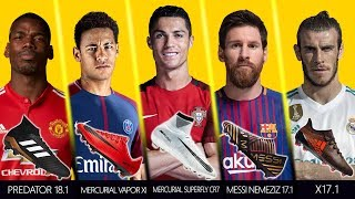 New Boots worn by Best Football Players 2017
