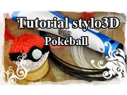 DIY : 3D pen / Stylo 3D Tutoriel N°2 : Poke-Ball