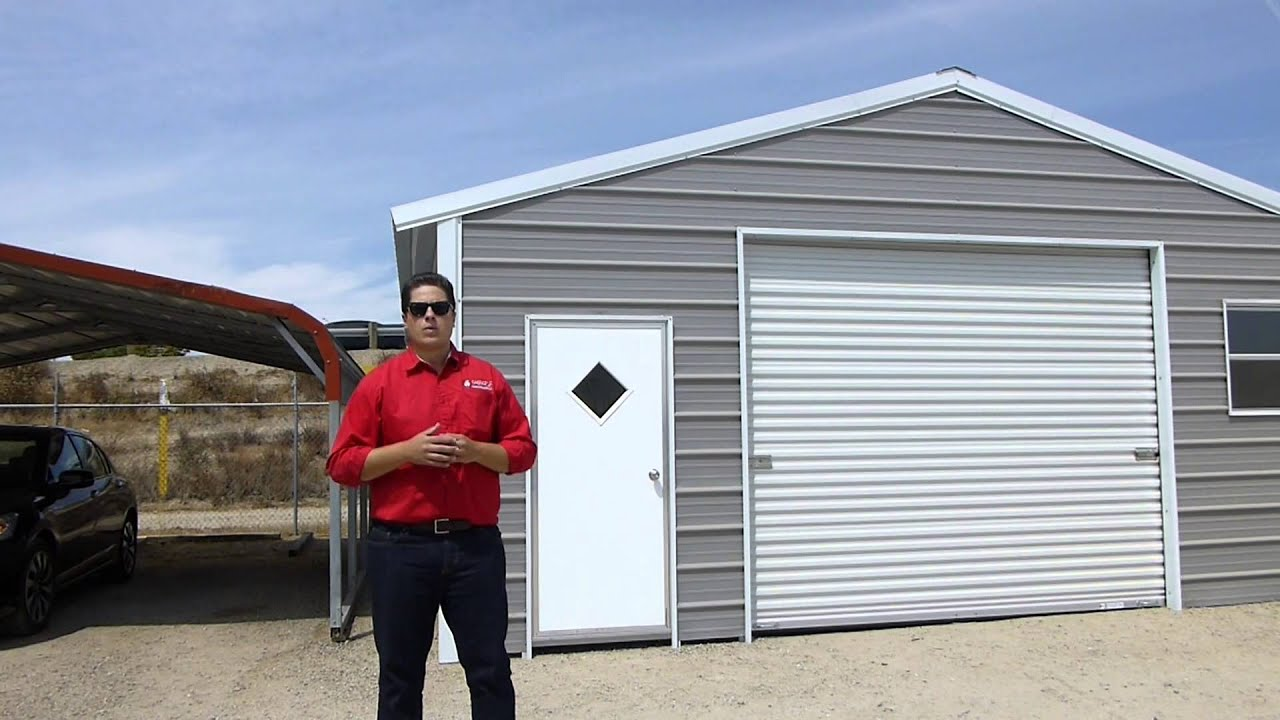 Carports steel buildings and more product overview youtube for Garages and more