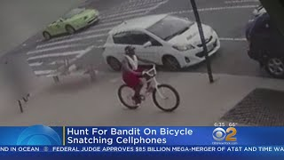 NYPD: Search On For Bandit On Bicycle Snatching Cell Phones