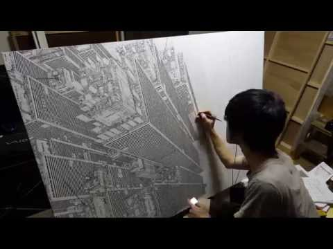 DAISUKE TAJIMA | The evolution of his drawing |  進化・時間 |