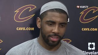 Kyrie Irving stunned when Reporter ask him if LeBron James is Father Figure | NBA