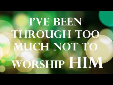 "My worship is for real lyric video ""Vashawn Mitchell"""