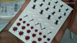 Распаковка посылок с сайта AliExpress!!! 3Dнаклейки для дизайна ногтей и многое другое!!!