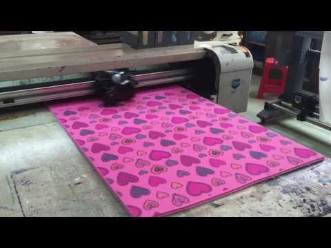 yoga mat printer, TPE,PVC printing video