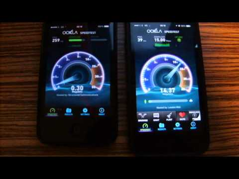 In London trying 3G v 4G for speed on the Three network