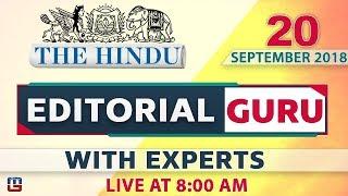 The Hindu   Editorial Guru at 8 am   20 September   UPSC, RRB,Bank, IBPS, SSC