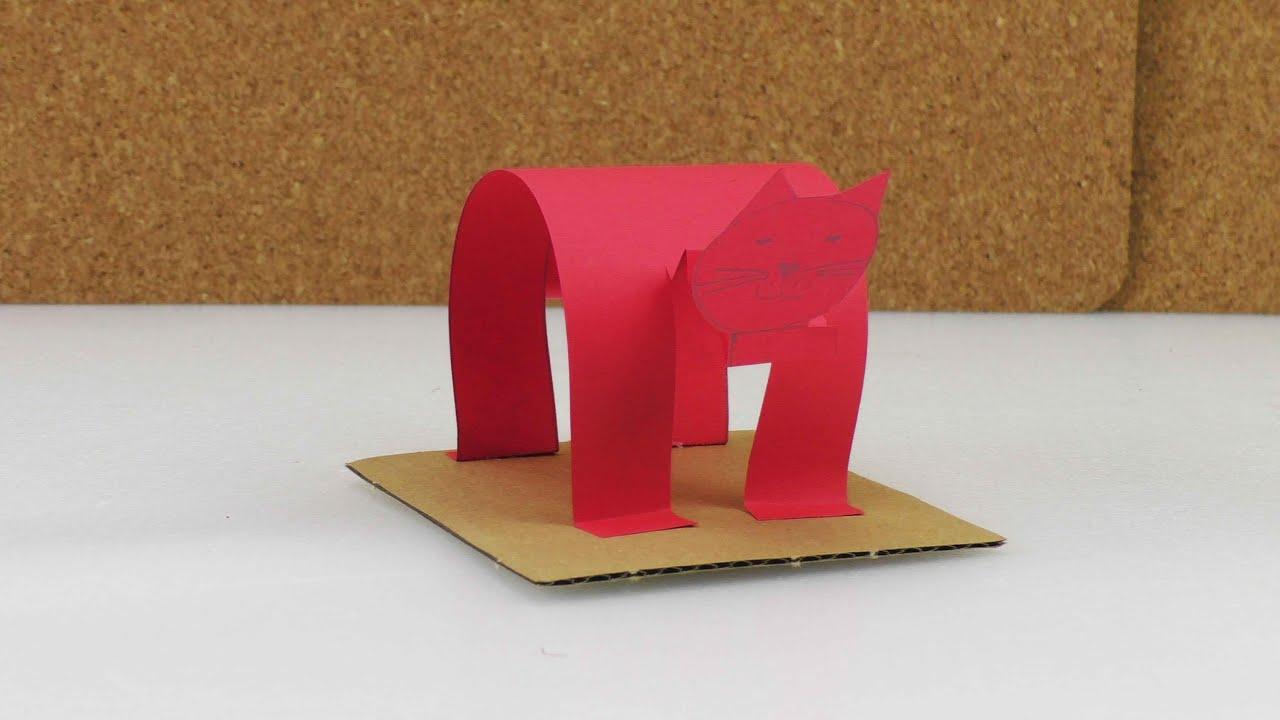 katze basteln aus papier selber machen lustig und einfach youtube. Black Bedroom Furniture Sets. Home Design Ideas