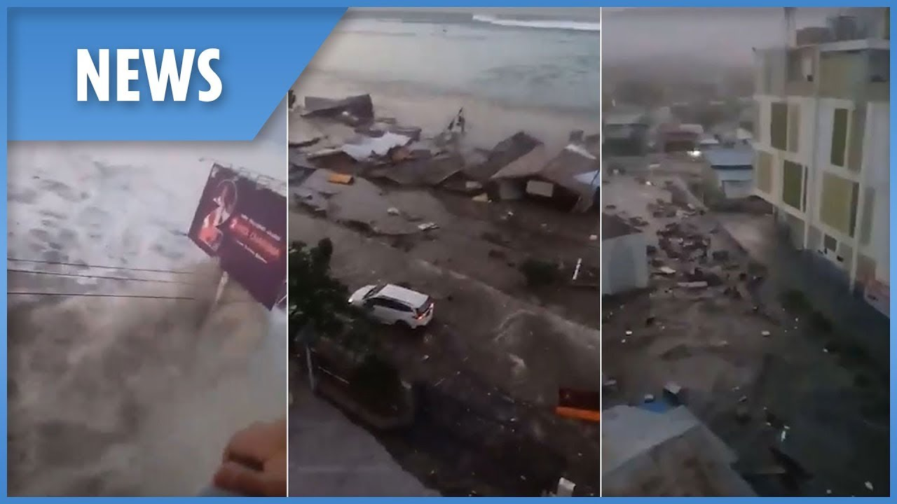 Tsunami hits Indonesia after 7.5 magnitude earthquake