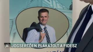 Jogsértően plakátolt a Fidesz Debrecenben 19-10-08