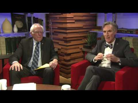 Bernie Sanders and Bill Nye for a Facebook Live conversation on climate change