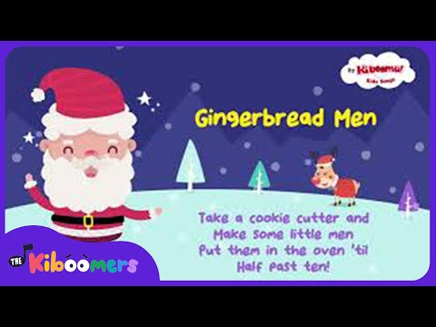 Gingerbread Man | Kids Christmas Songs | The Kiboomers