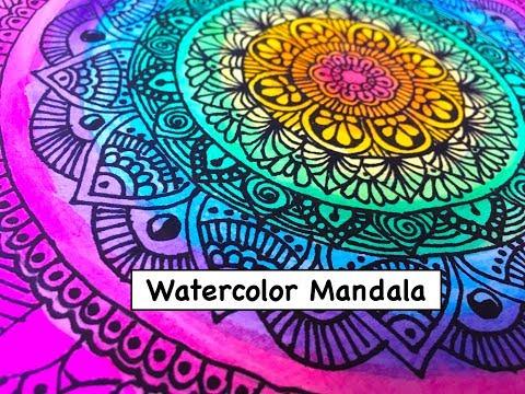 Watercolor Mandala Art // Drawing 2