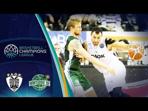 a65d3e1a316 PAOK v Nanterre 92 - Full Game - Basketball Champions League 2018 ...