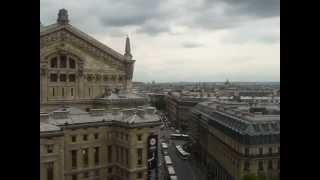 Париж с высоты птичьего полета, на крыше ТК Лафает
