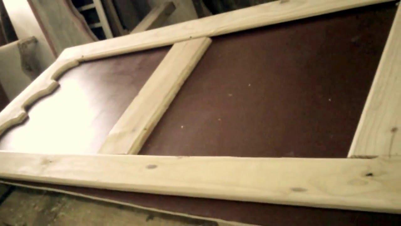 Como hacer puerta despensa de cocina youtube - Como hacer una puerta rustica ...
