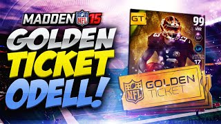 Madden 15 Ultimate Team - GOLDEN TICKET ODELL! DISGUSTING! MUT 15 PS4
