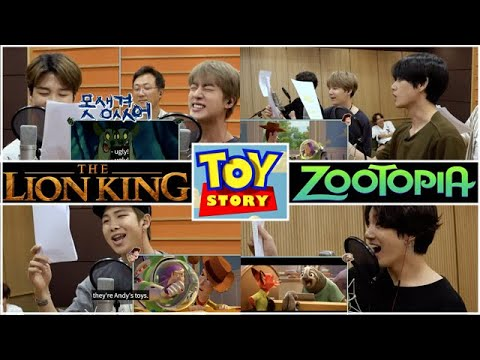 BTS Dubbing The Lion King, Toy Story and Zootopia! [Disney - RUN BTS EP 109]