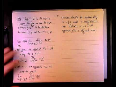 Existance of a Two Variable Limit - example