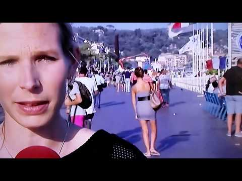 Man shows girlfriends thong on belgians VTM news promenade des anglais.