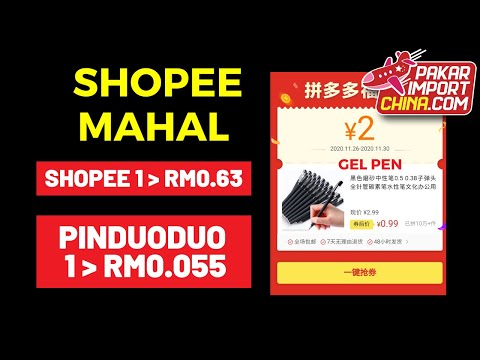 Dropship China Ke Shopee - Gel Pen Bukti Borong Pinduoduo Part 5/5