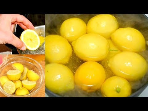 Boil Lemons In Evening & Drink The Liquid As You Wake Up-You Will Be Shocked By The Effects!