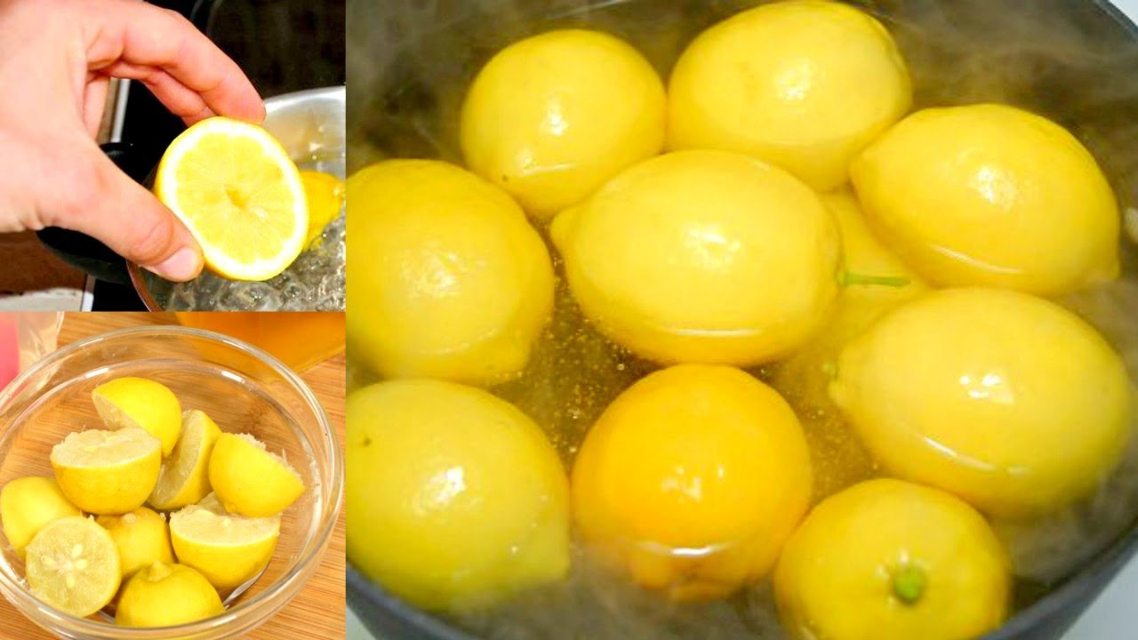 Boil Lemons At Night And Drink the Water In The Morning. Tasteandcraze.com