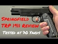 watch he video of Springfield 1911 TRP Review: Shots On Steel at 70 Yards | Geauga Firearms Academy