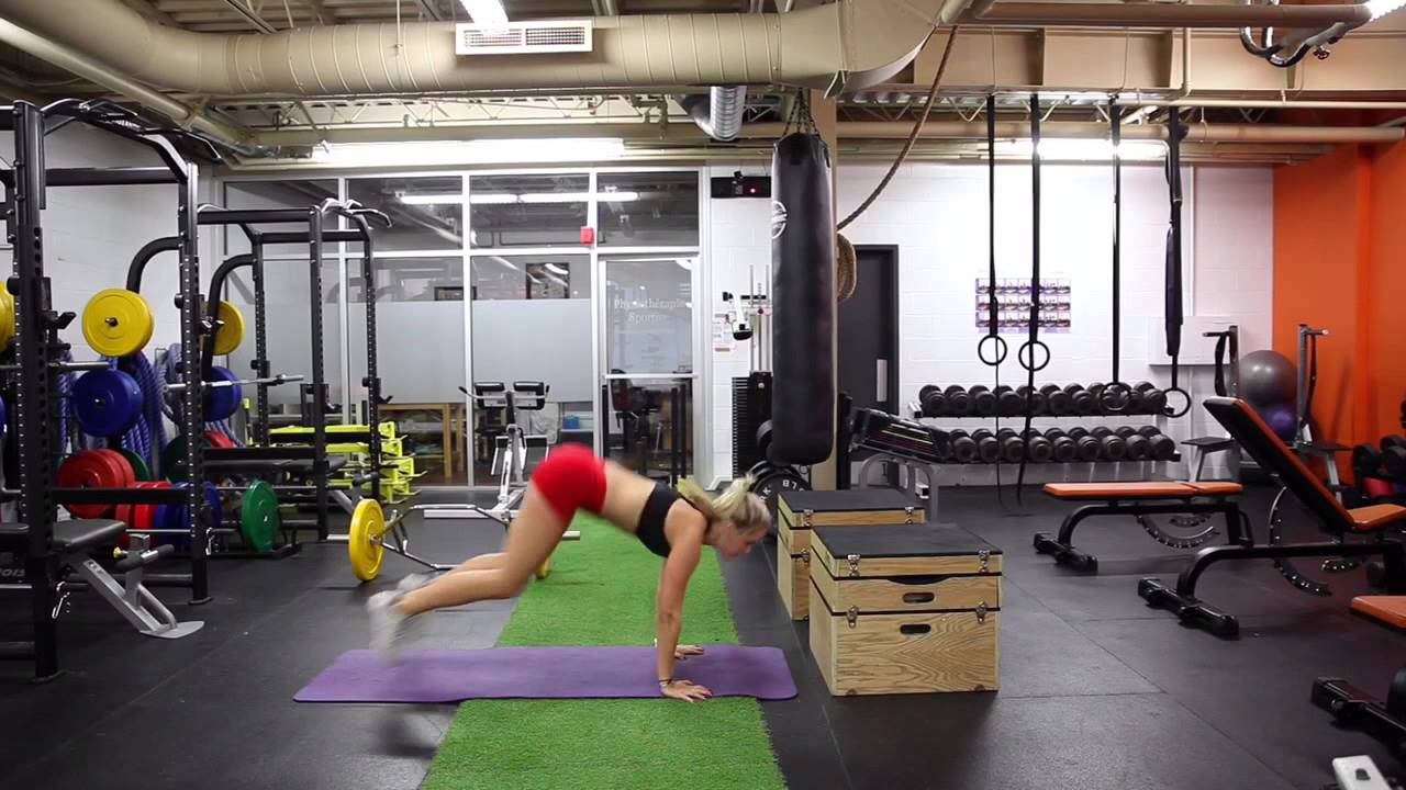Box Jump Chest To Floor Burpees Youtube