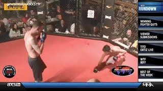 Winner Taps Out In Amateur MMA Fight