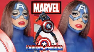 Trang Điểm Captain America [ MARVEL ] | Marvel's Captain America Makeup Transformation