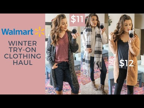 WALMART WINTER TRY ON CLOTHING HAUL | VLOGMAS DAY 14