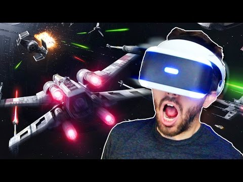INSANE VR EXPERIENCE! - Star Wars Rogue One: X-Wing VR Mission (PS VR)
