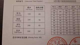 My HSK 3 Certificate | Chinese profieciency test | What does it look like?