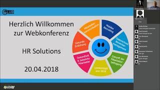 Webkonferenz - HR Solutions vom 20.04.2018