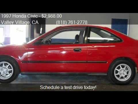 1997 Honda Civic HX 2dr Coupe For Sale In Valley Village, CA
