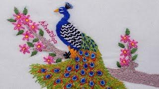 Pavão-indiano – Bordados à mão