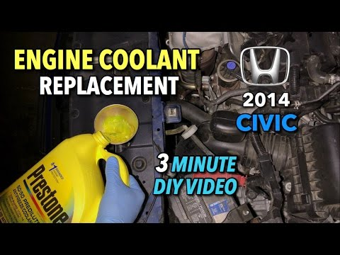 Honda Civic Engine Coolant Change 2012 - 2015 - 3 Minute DIY Video