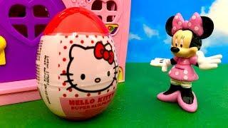 Myszka Minnie i Hello Kitty ♦ Superowe Jajko Niespodzianka ♦ Bajka dla dzieci PO POLSKU