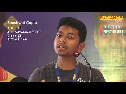 Shashwat Gupta, AIR- 818, JEE Advanced, 2018