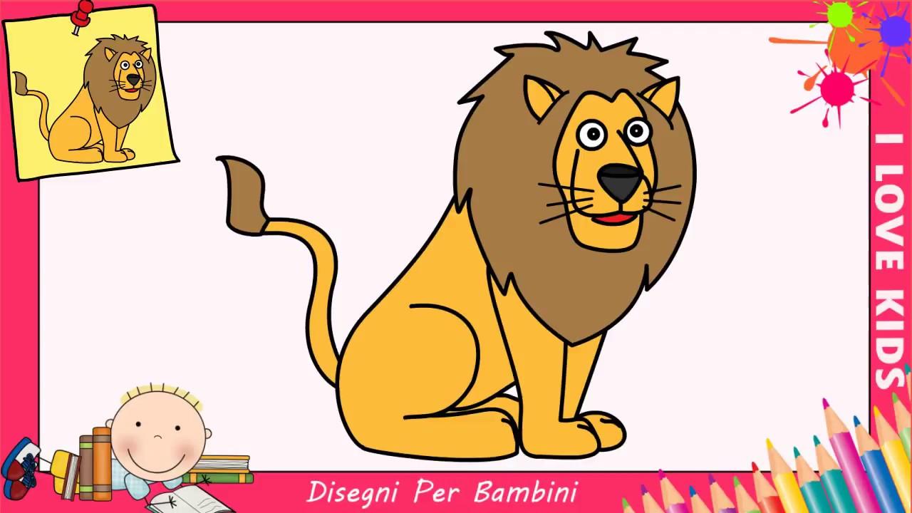 Come disegnare un leone facile passo per passo per bambini for Coniglio disegno per bambini
