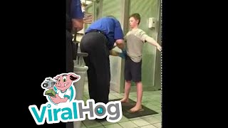 TSA Detains Young Boy for Invasive Pat Down || ViralHog