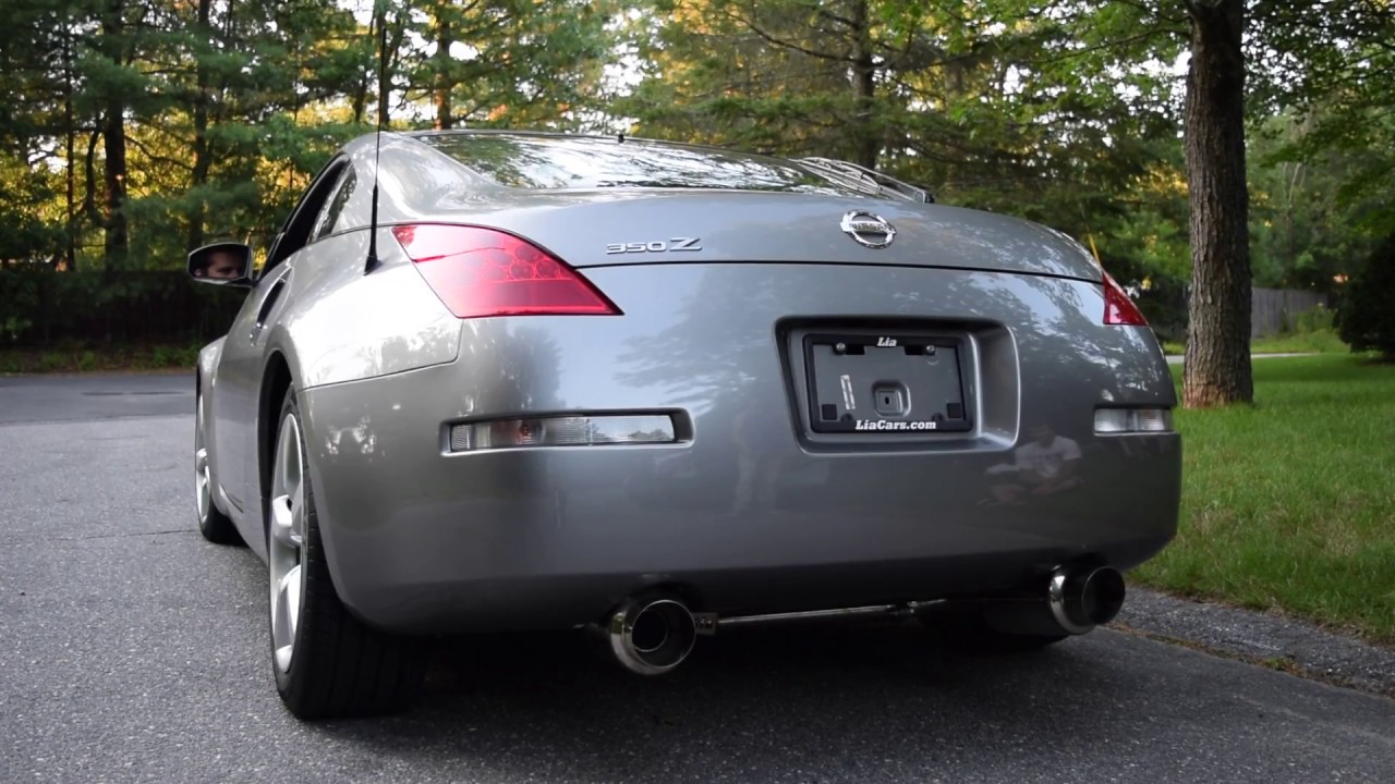 nissan 350z exhaust before after invidia n1