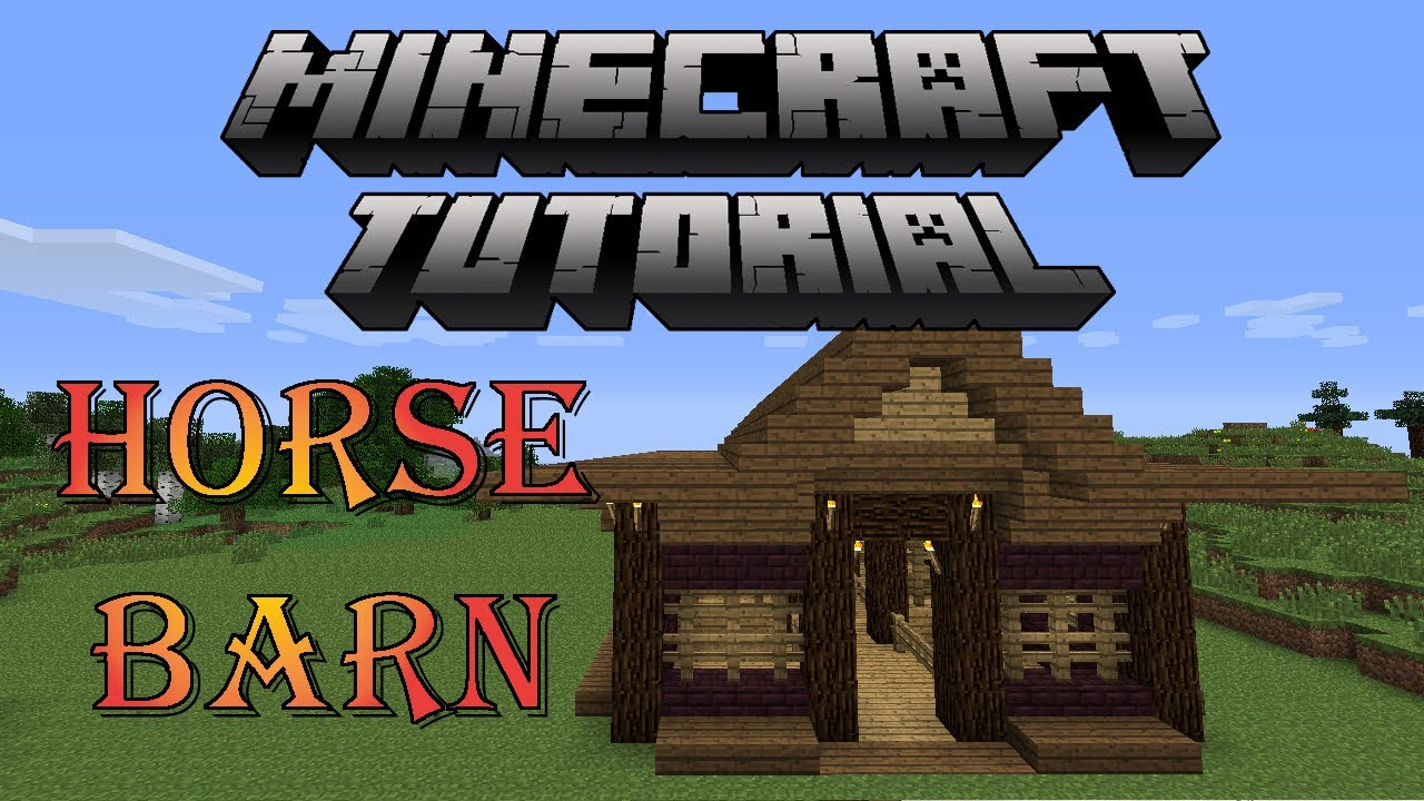Minecraft Tutorial How To Build A Horse Barn YouTube